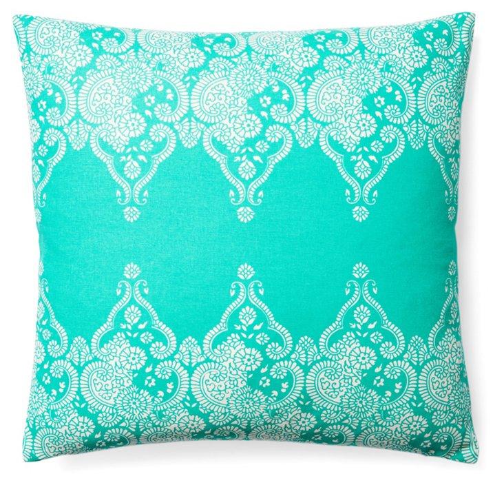 Monterey 20x20 Cotton Pillow, Teal