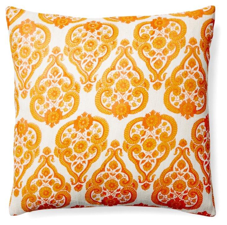 Marin 20x20 Jute Pillow, Orange