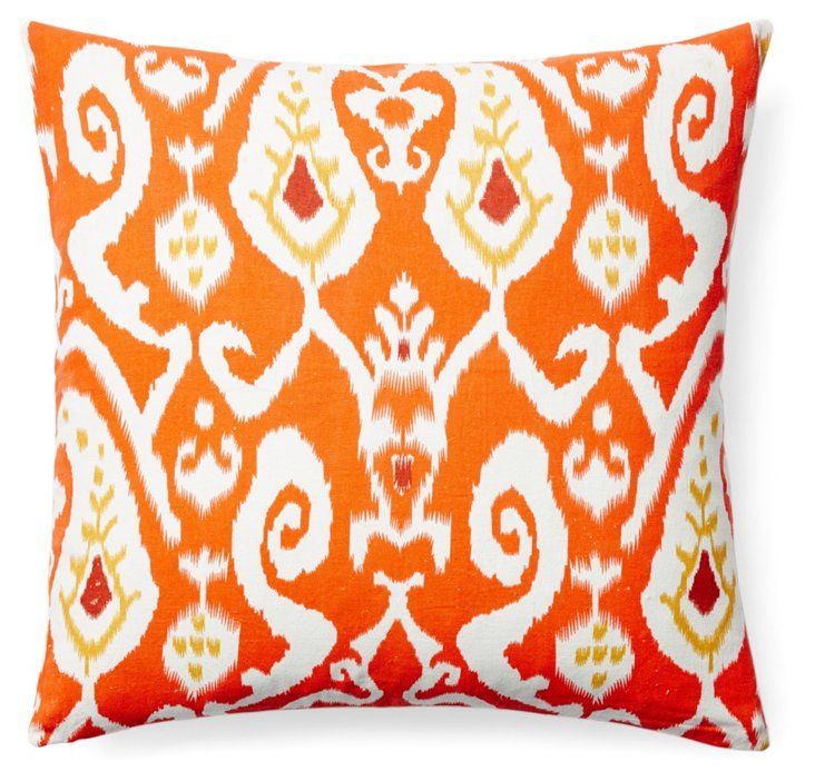Montebello 20x20 Cotton Pillow, Orange