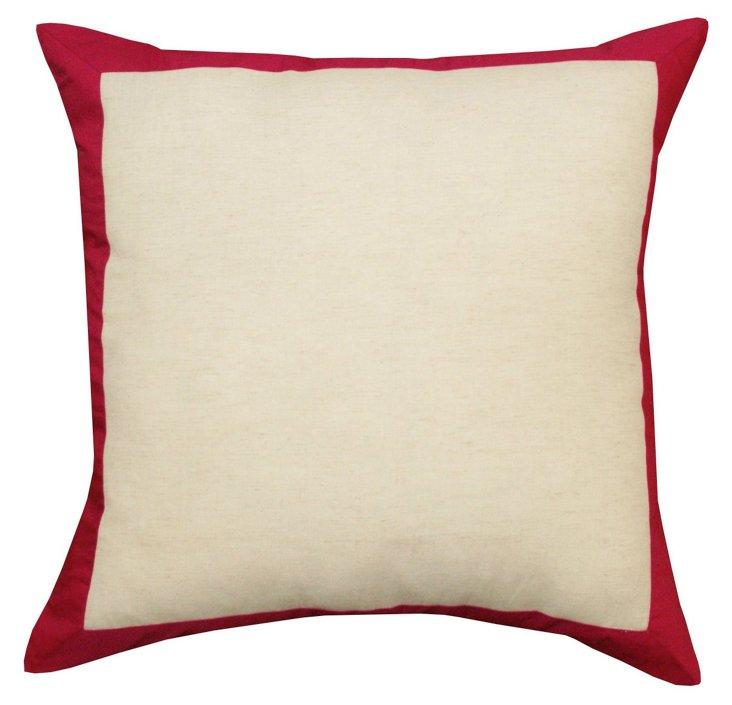 Corona 20x20 Cotton Pillow, Red