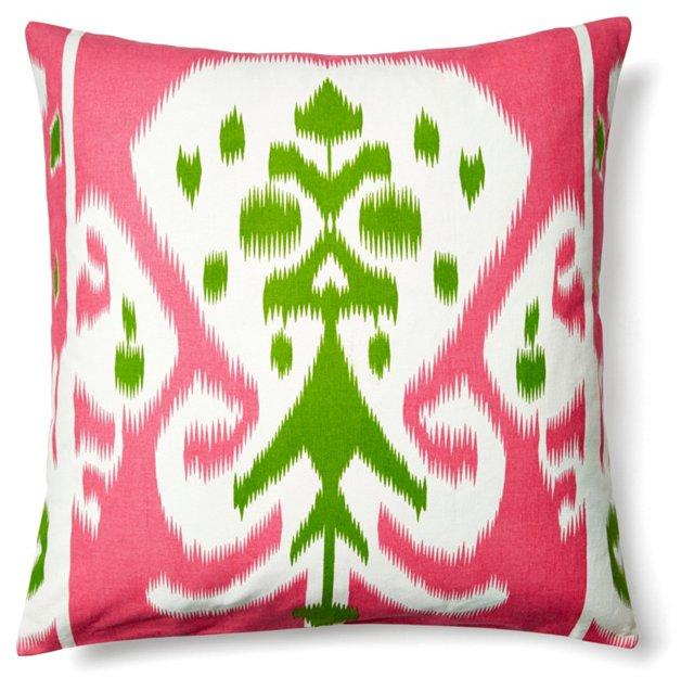 Pooja 20x20 Cotton Pillow, Pink
