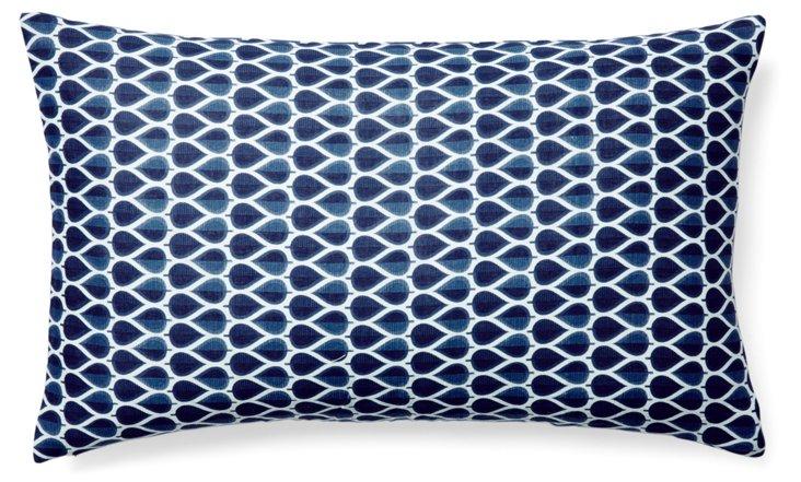 Delano 14x24 Cotton Pillow, Navy