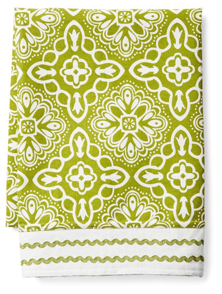 S/2 Haveli Dish Towels, Green
