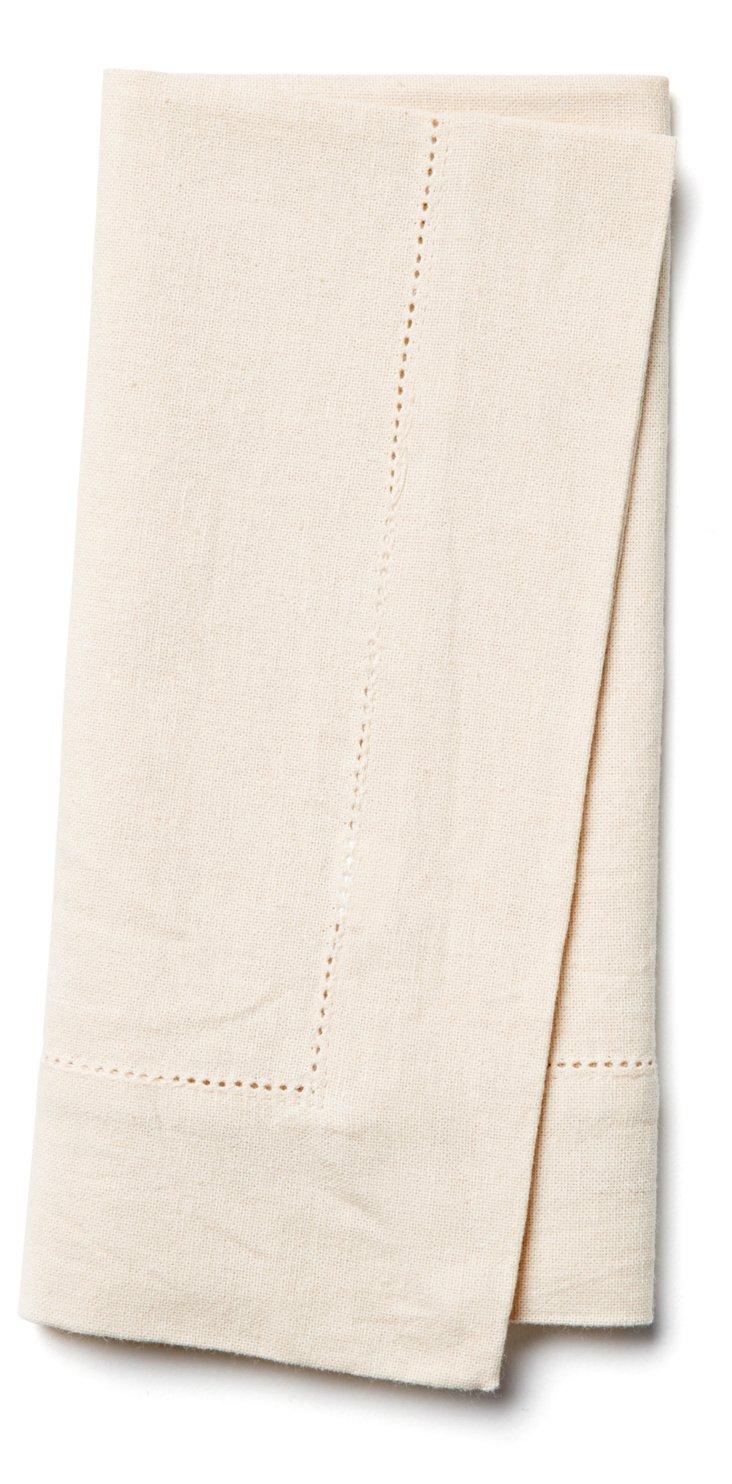 S/4 Hemstitch Napkins, Linen