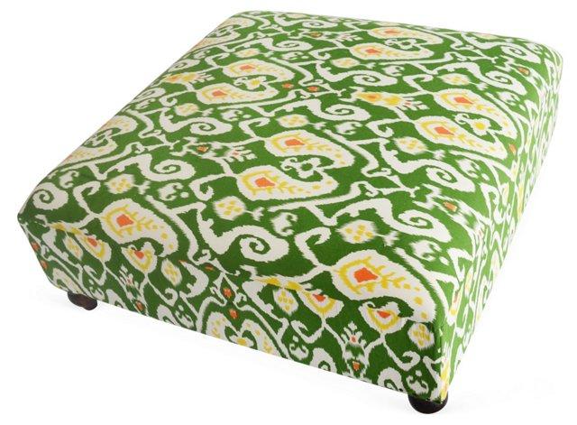 Eloise Ottoman, Green/Multi