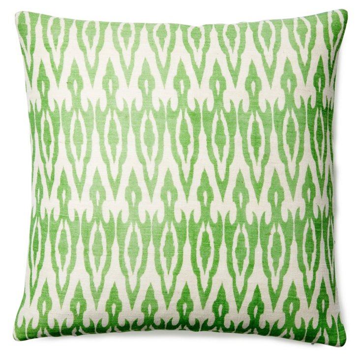 Laguna 20x20 Jute Pillow, Green