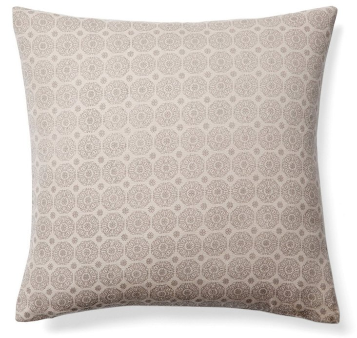 Ojai 20x20 Cotton Pillow, Taupe