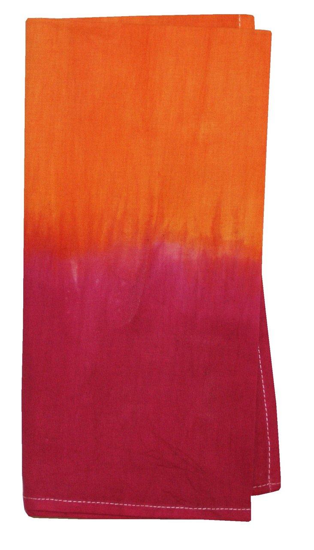 S/4 Tie-Dye Napkins, Pink/Orange