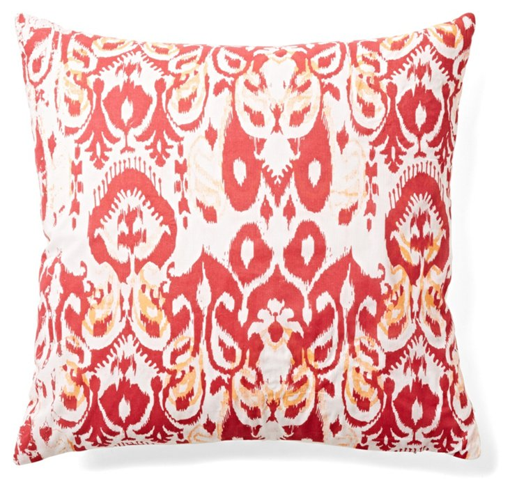 Taylor 18x18 Cotton Pillow, Red