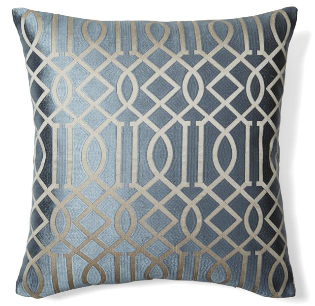 Graphic 20x20 Embroidered Pillow, Gray