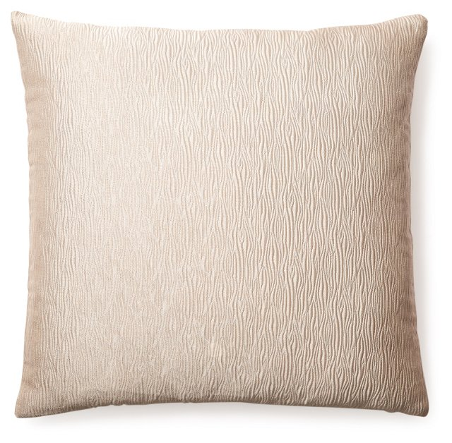 Chic 20x20 Jacquard Pillow, Sand