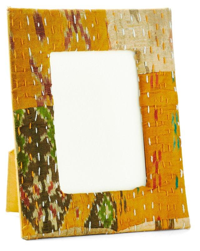 4x6 Ikat Frame, Gold