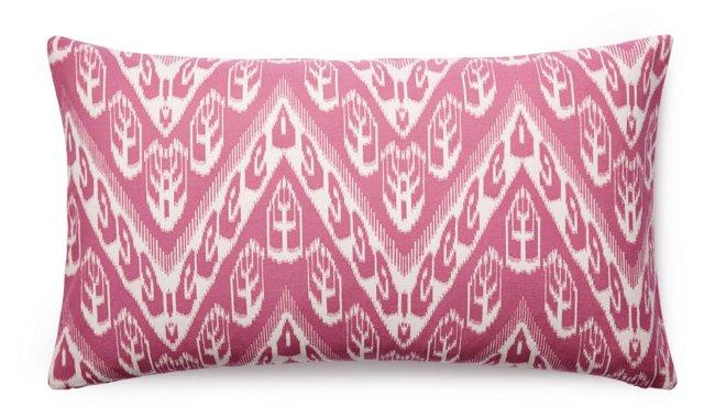 Chevron 14x24 Cotton Pillow, Pink