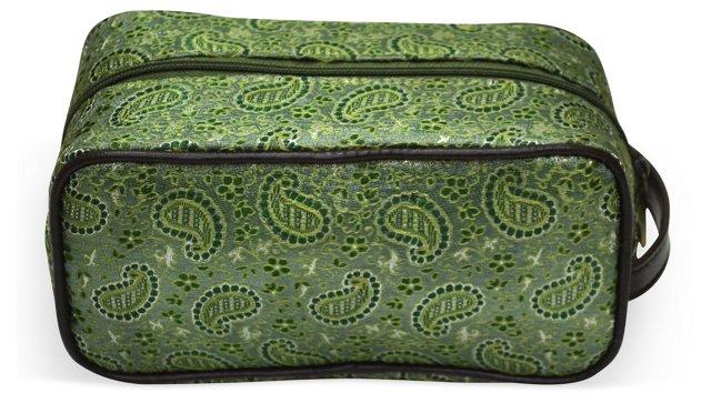 Brocade Cosmetic Bag, Jade