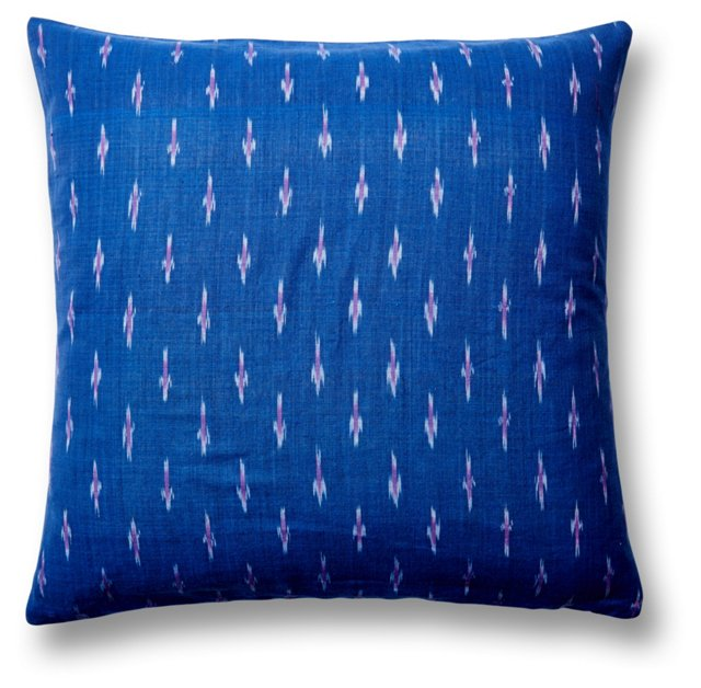 Corfu 20x20 Cotton Pillow, Indigo