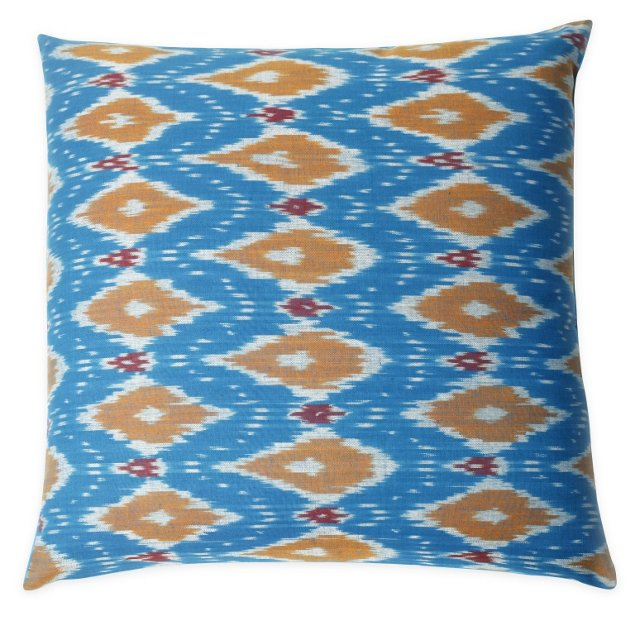 Fiona 20x20 Cotton Pillow, Blue