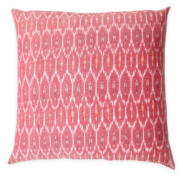 Chantel 20x20 Cotton Pillow, Pink