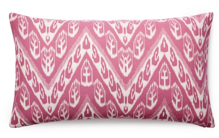Chevron 14x24 Cotton Pillows, Pink