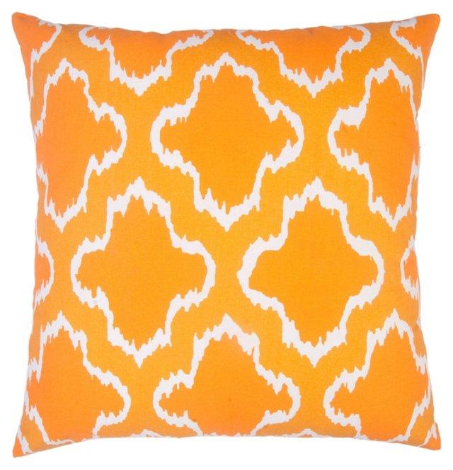 Sahara 20x20 Cotton Pillow, Orange