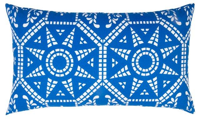Mosaic 14x24 Cotton Pillow, Blue