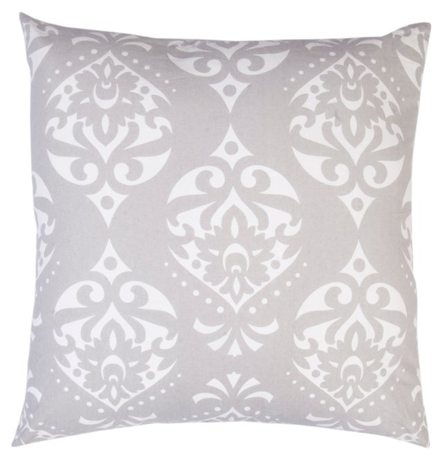Kalos 20x20 Cotton Pillow, Gray