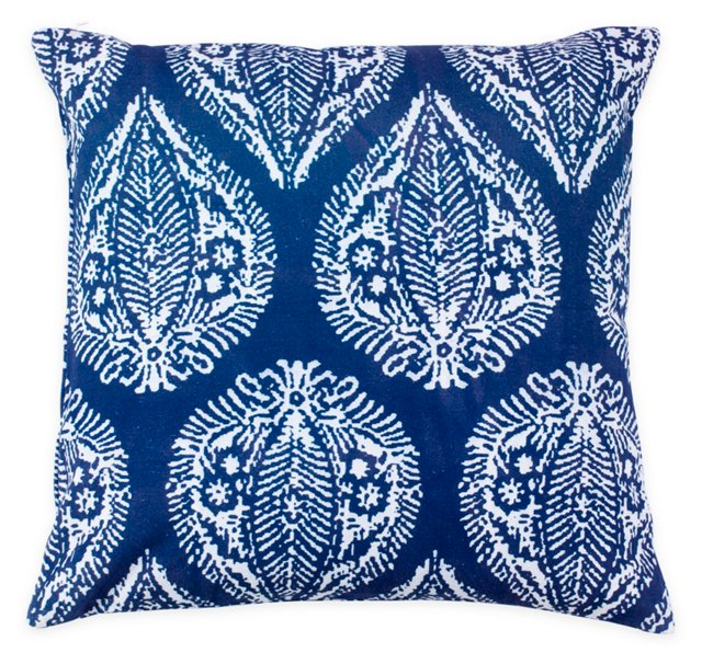 Artisan 20x20 Cotton Pillow, Blue