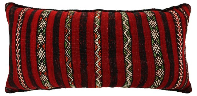 Moroccan Kilim 15x21 Pillow, Red