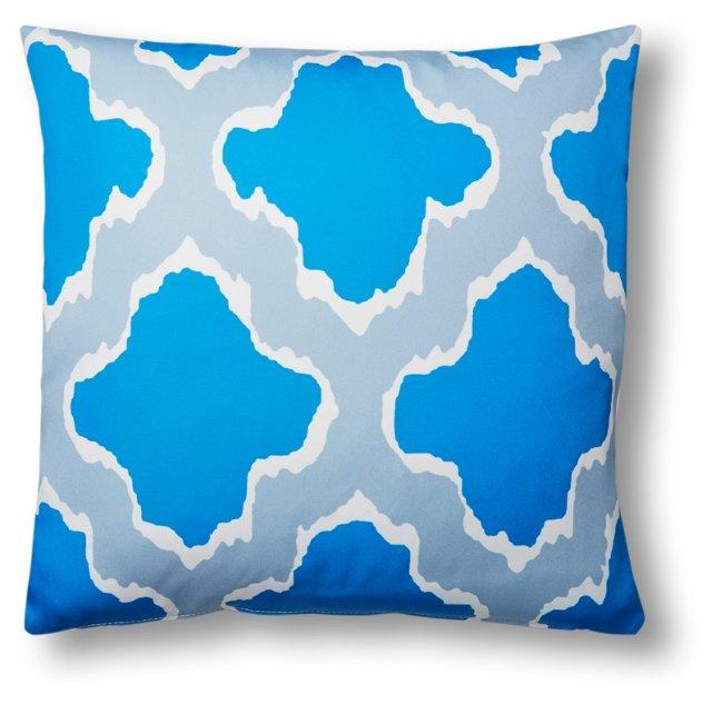 Sahara 20x20 Outdoor Pillow, Blue
