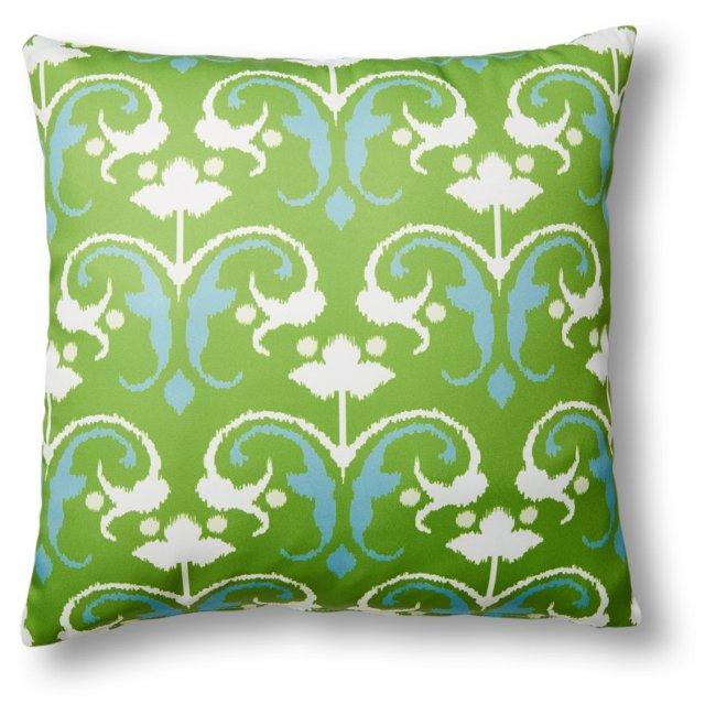 Ikat 20x20 Outdoor Pillow, Lime