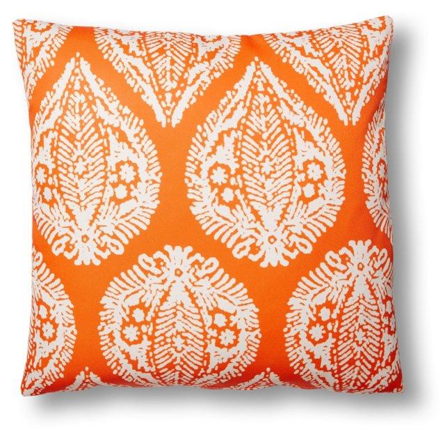 Augustus 20x20 Outdoor Pillow, Orange