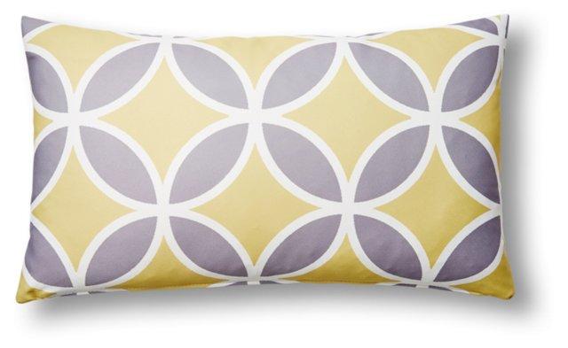 Quatrefoil 14x24 Outdoor Pillow, Yellow