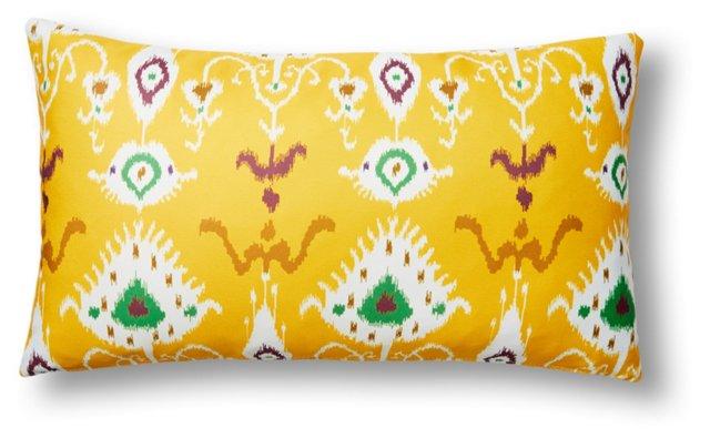 Tribal Ikat 14x24 Outdoor Pillow, Yellow