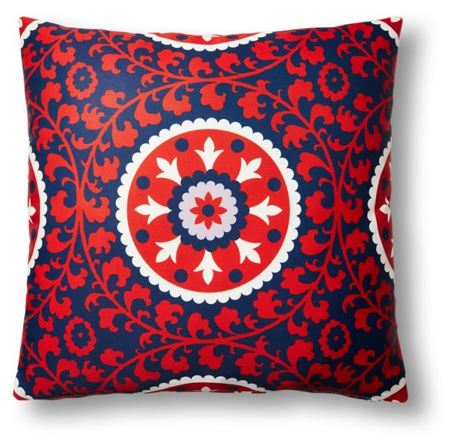 Ameena 20x20 Outdoor Pillow, Red