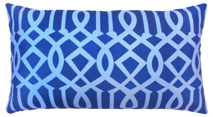 Variance 14x24 Outdoor Pillow, Blue