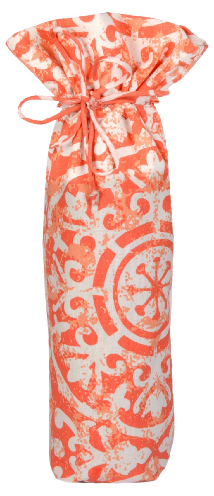 Medallion Wine Bag, Coral