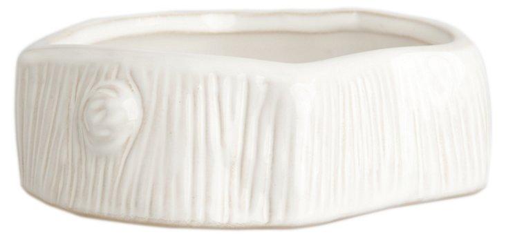 Faux Bois Bowl, White