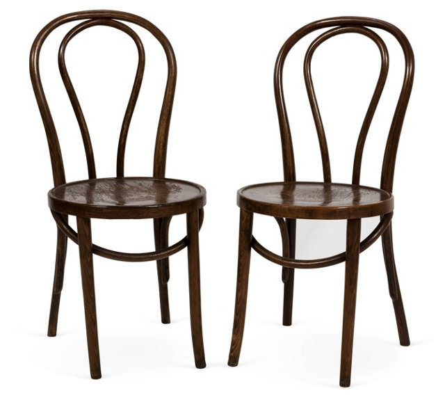 Thonet Bentwood Chairs, Pair