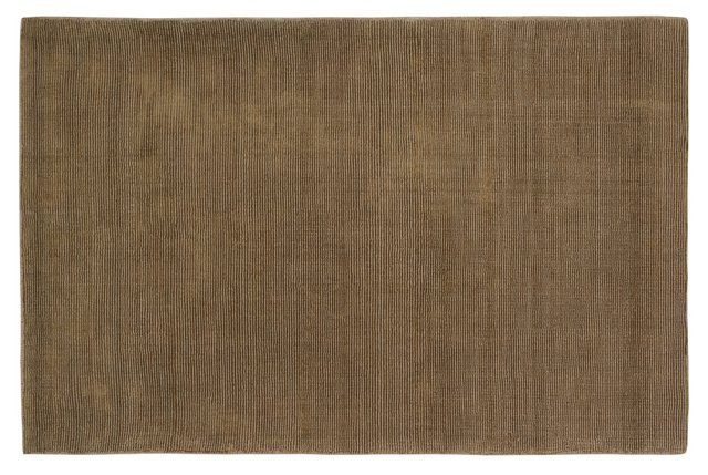 5'x8' Mini Stripe Rug, Bronze