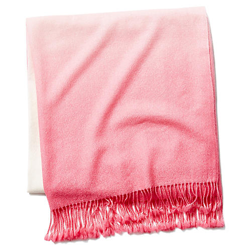 Dip-Dye Throw, Pink