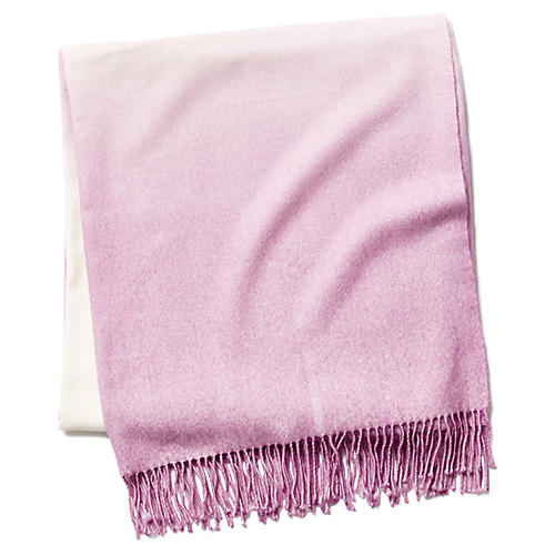 Dip-Dye Throw, Lilac