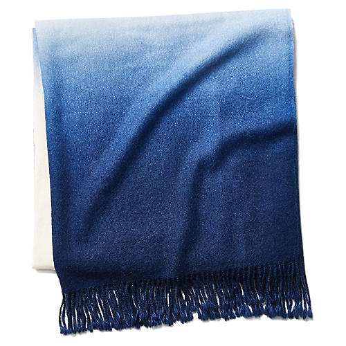 Dip-Dye Throw, Indigo