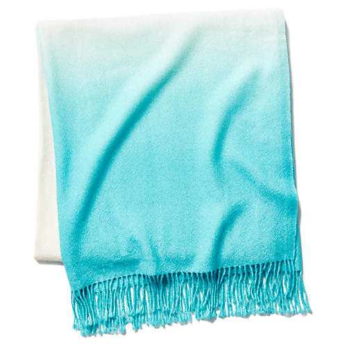 Dip-Dye Throw, Pool Blue