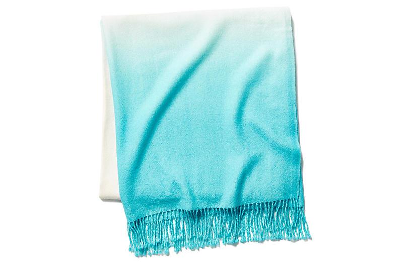 Dip-Dye Throw, Pool Blue