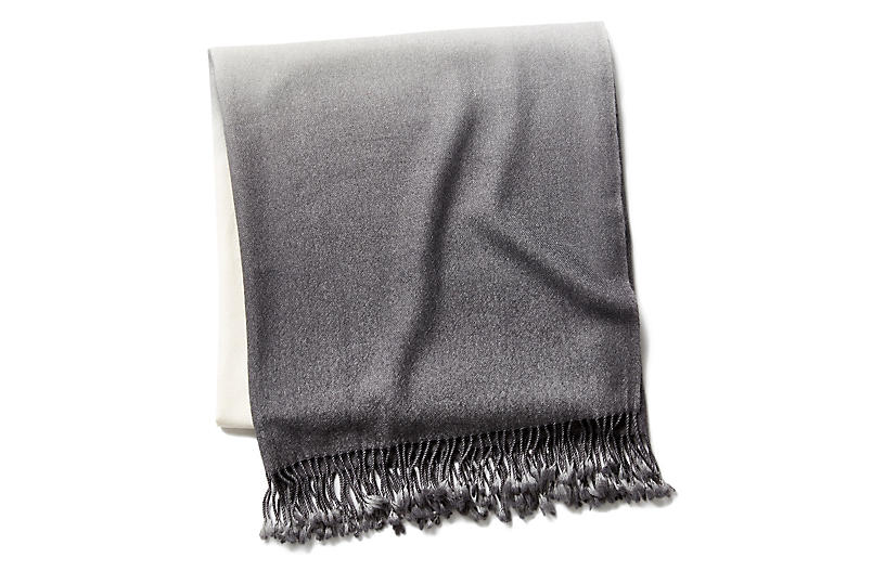 Dip-Dye Throw, Pewter