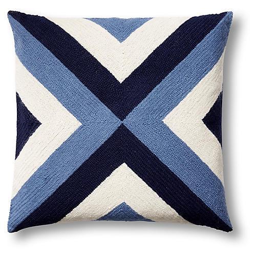 Grinda 18x18 Pillow, Periwinkle
