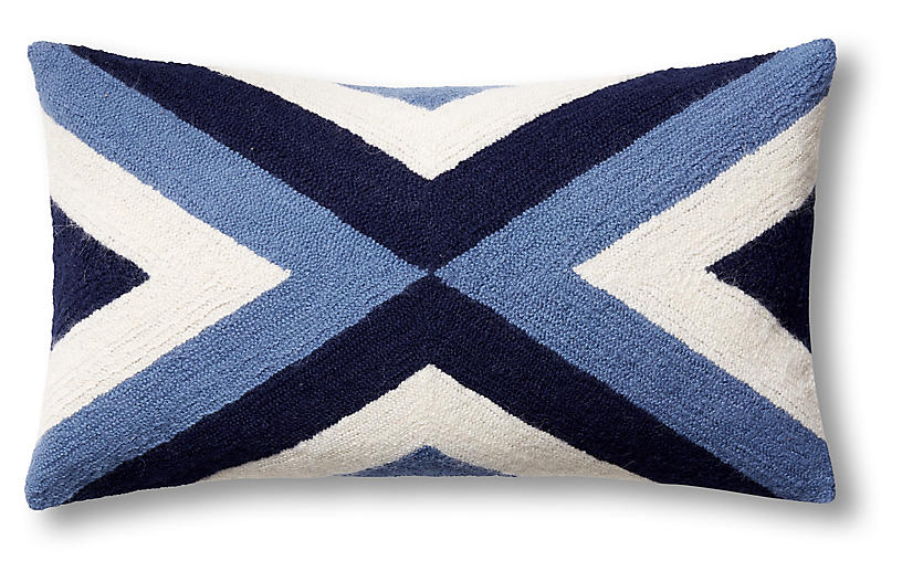 Grinda 12x20 Pillow, Periwinkle