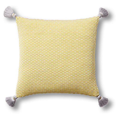 Ella 18x18 Pillow, Citrus/Natural