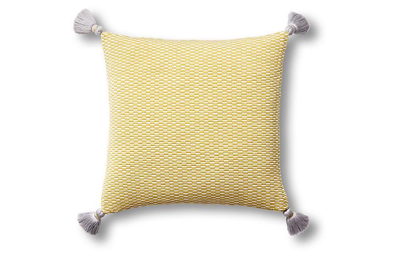 Ella 18x18 Pillow, Citrus/Natural