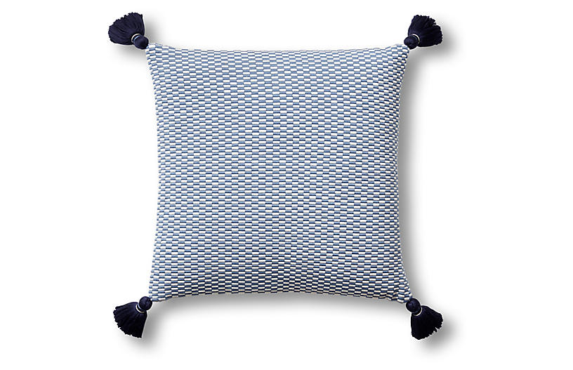 Ella 18x18 Pillow, Periwinkle