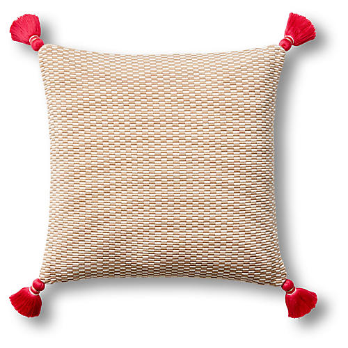 Ella 18x18 Pillow, Camel/Natural